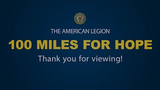 Legion Riders 100 Miles for Hope Announcement