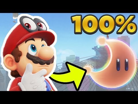 Super Mario Odyssey - Metro Kingdom ALL 81 POWER MOON LOCATIONS! [100% Guide]
