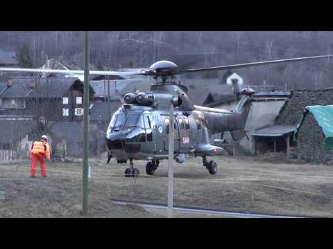 AS-532 Cougar Swiss Air Force a Chironico