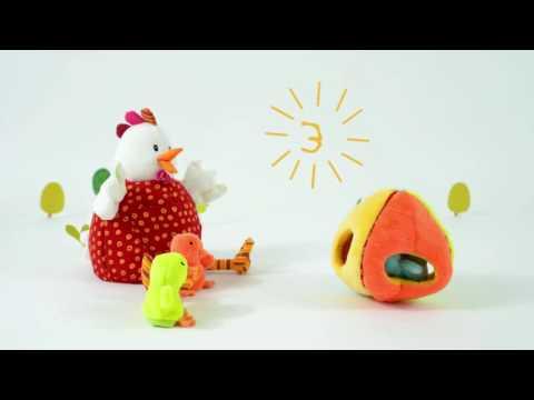 Видеозапись Кукольный театр на руку 'Курочка Офелия с цыплятами', 86635, ТМ Lilliputiens, Игроландия
