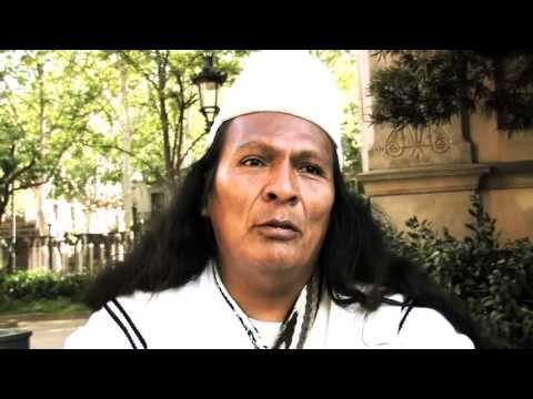 Entrevista a lider espiritual Arhuaco, en Fira de la Terra, Barcelona