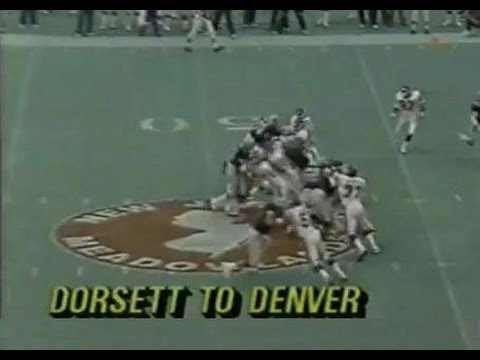 1988 TONY DORSETT traded to BRONCOS from COWBOYS -- TV sports segment