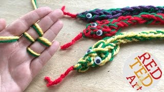 How to Finger Knit a Snake DIY - Finger Knitting Projects - No Sew