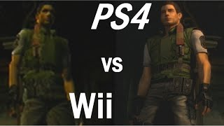 Resident Evil REmake PS4 vs Wii Graphics + Gameplay Comparison