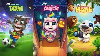 My Talking Hank vs My Talking Tom vs My Talking Angela - Gameplay Great Makeover