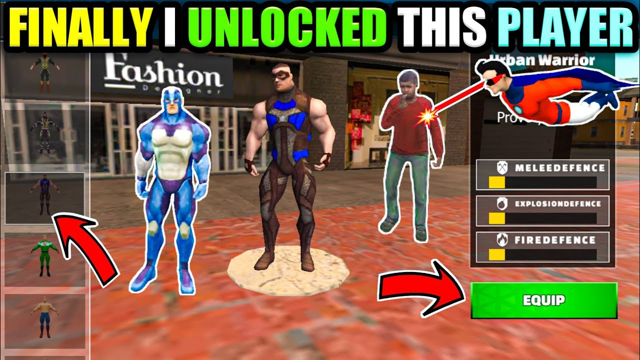 finally I unlocked this player || Rope Hero Vice Town Game ||Dynamo Spider