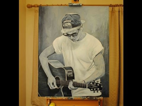 Niall Horan One Direction painting time lapse video