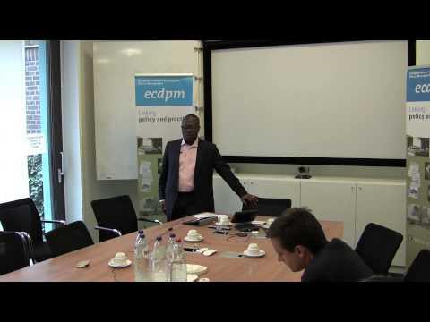 Ghana's economic development, Alexander Archine - Seminar at ECDPM