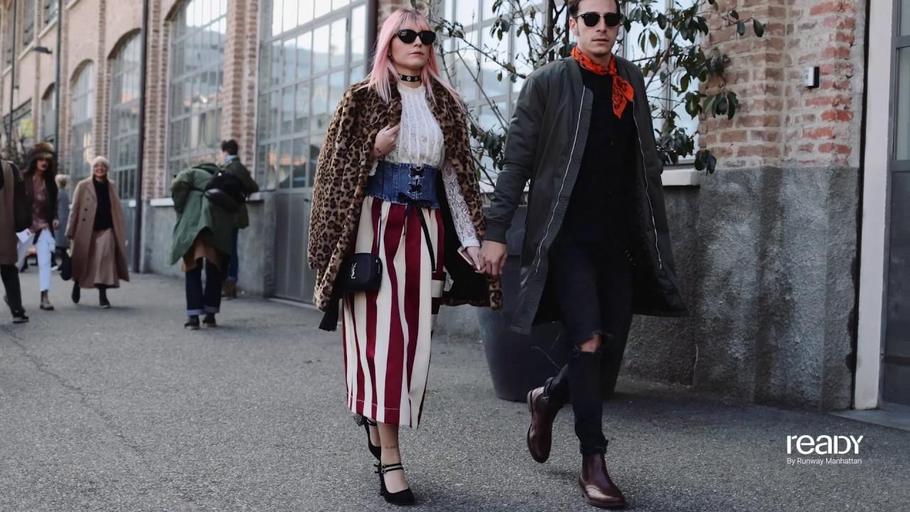 Milan Fashion Week Fall Winter 2017 Street Style Day 4 Youtube