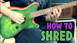 HOW TO SHRED - 3 esseฑtial exercises for speed & accuracy