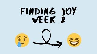 Finding Joy: Week 2