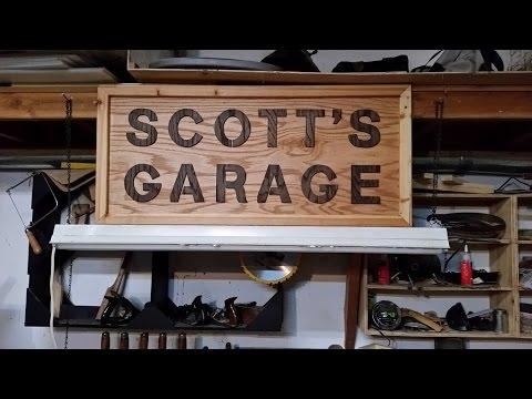 Making A Wooden Sign For Scottu0027s Garage