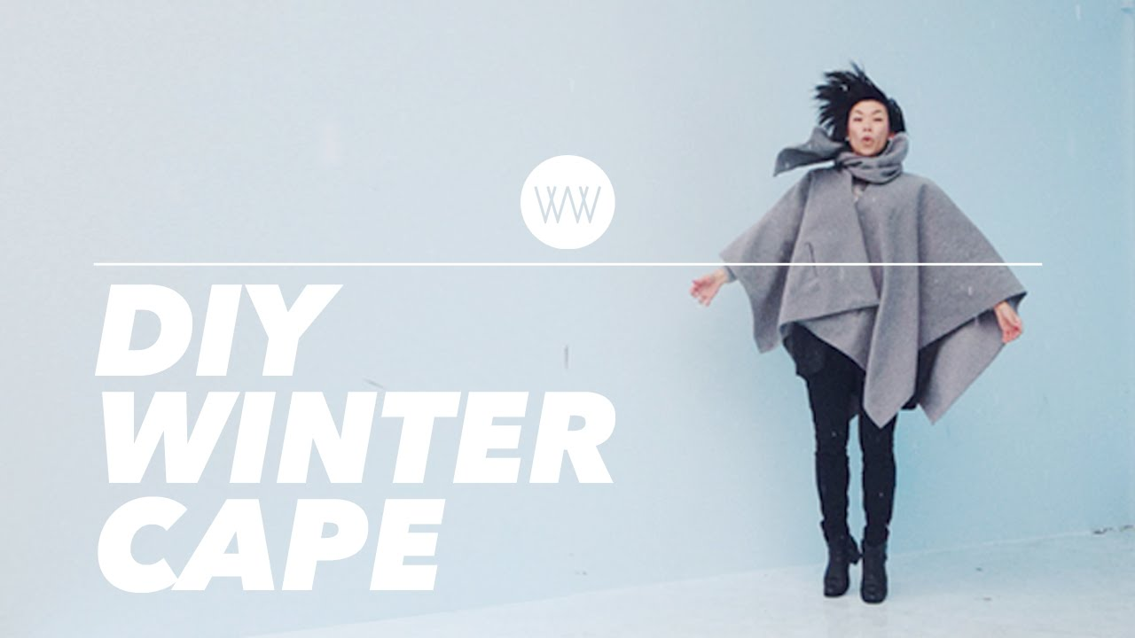 How To Make A Winter Cape Cloak Poncho Withwendy Youtube