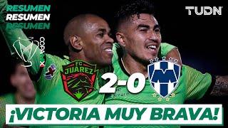 Resumen Y Goles | Fc Juárez 2 - 0 Rayados | Copa Mx - Semifinal Ida | Tudn