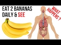 Eat 2 Bananas Per Day for a Month, This Will Happens to Your Body / Banana Health Benefits