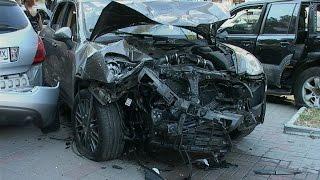 ДТП Киев, водитель Porsche Cayenn разбил пять машин