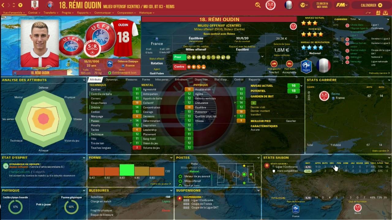 Football Manager 2019 Stade De Reims Et Vos Joueur S01 Ep2
