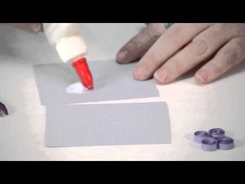 How to Attach Quilling Flowers to Paper : Custom Crafts