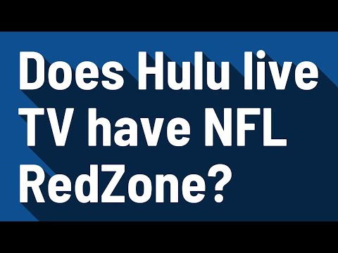 Does Hulu live TV have NFL RedZone?