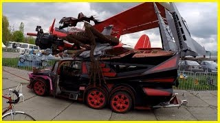 The Most Unusual Car at the Car Shows Old Car Land, Kiev 2018. Strangest Vehicles Review