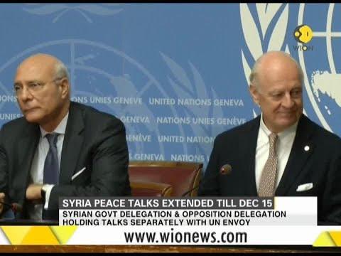 Syria peace talk extended till December 15