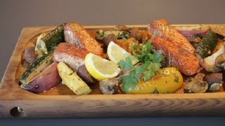 How to Cook Salmon on a Ceder Plank in an Oven : Recipes From the Northwest
