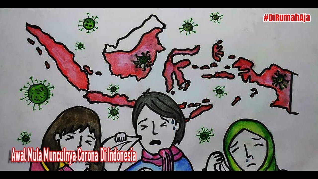 Awal Mula Munculnya Corona Di Indonesia - Cerita Bergambar - AuroraLetsDraw #DiRumahAja