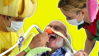 فوزي موزي وتوتي – طبيب الاسنان – At the dentist