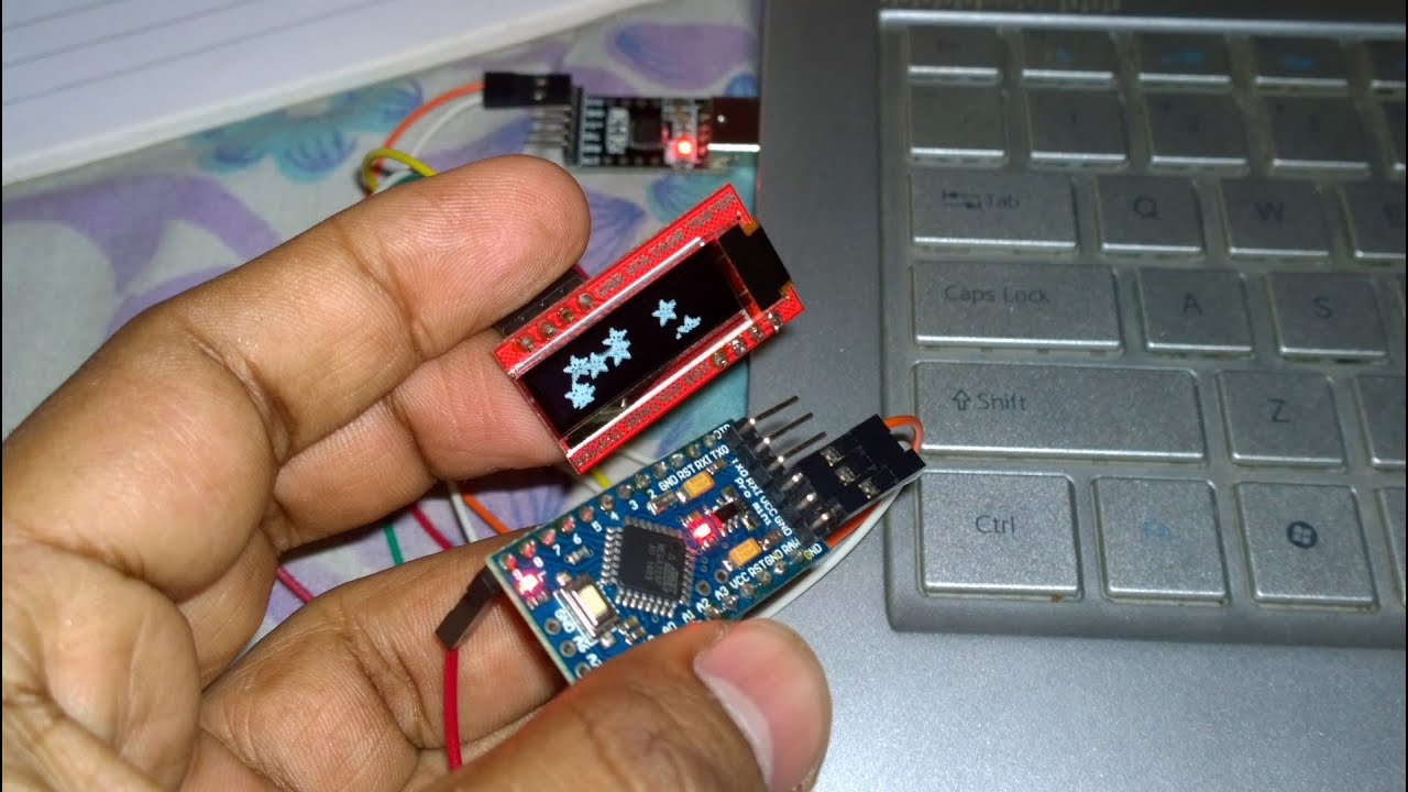 Usb voltage tester pixels oled arduino pro mini