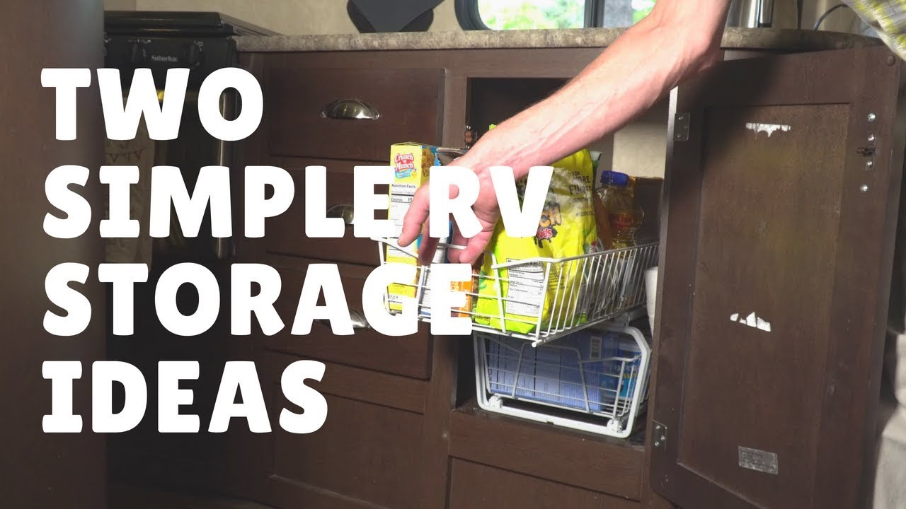 Episode 40: Two Simple RV Storage Ideas | RV camping tips tricks