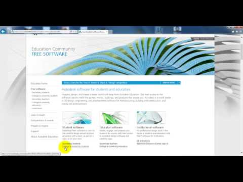 Download free student software from Autodesk