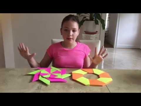 How to make an origami ninja star - ninja star tutorial | Fluffy Unicorn Forever