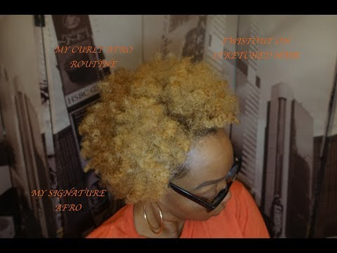 Curly Afro Hairstyle | Stretched Natural Hair | Natural Hairstyles thumbnail