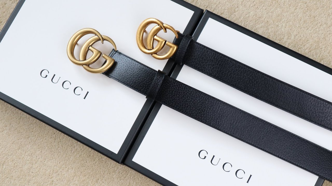 5592a963a00 Real vs Replica Gucci HOW TO SPOT A FAKE GUCCI BELT - YouTube