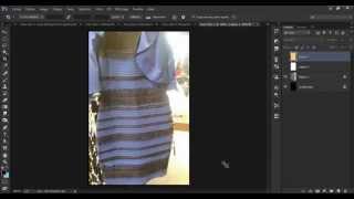 bleu et noir OU blanc et or, ,une  petite démonstration By Khelifi Montassar