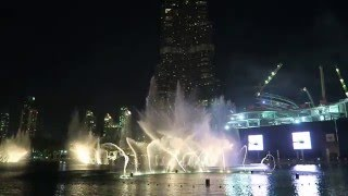 20160118 BURJ KHALIFA / DUBAI MALL, The Fountain Show (Arabic Song)  by CANON G7X