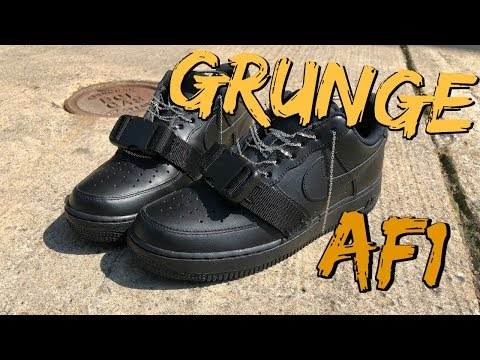 DIY Nike Air Force 1 | How To Customize Your Nikes | Grunge