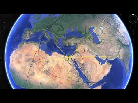 Giza Pyramids Fibonacci Spiral