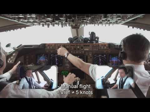 Pilotseye.tv - Lufthansa Boeing 747-400 - Approach & Landing into Frankfurt [English Subtitles]