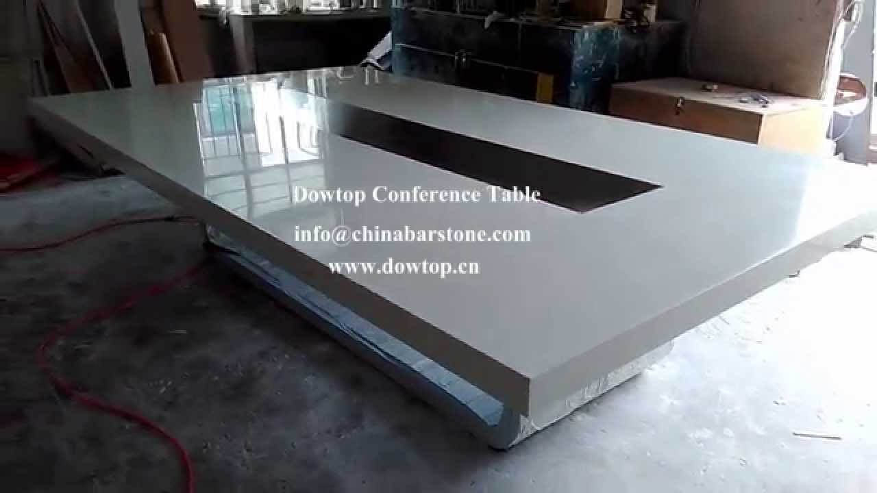 Dismountable Corian Meeting Table YouTube - Corian conference table