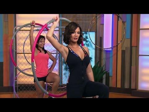 Zuleyka y Ana hicieron ejercicio con el hula hula  -- Despierta América