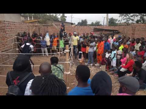 Boxing match in Kampala ghetto