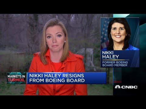 Nikki Haley Resigns from Boeing Board Over Coronavirus Bailout ...