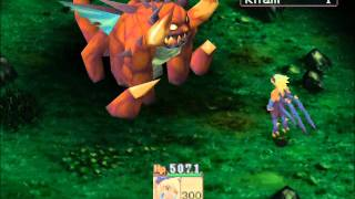 PS1 Gameplay - Breath of Fire IV - Boss #1 - Kham