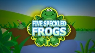 Five Little Speckled Frogs | Nursery Rhymes For Kids | Popular English Rhymes