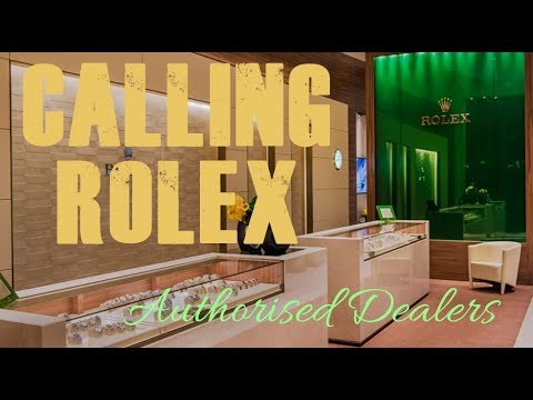 A message for all Authorised Rolex Dealers