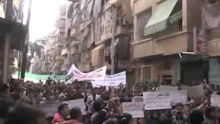 حلب بستان القصر - نشيدة روعة في جمعة الله أكبر 26-10-2012