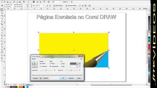pagina enrolada no corel DRAW