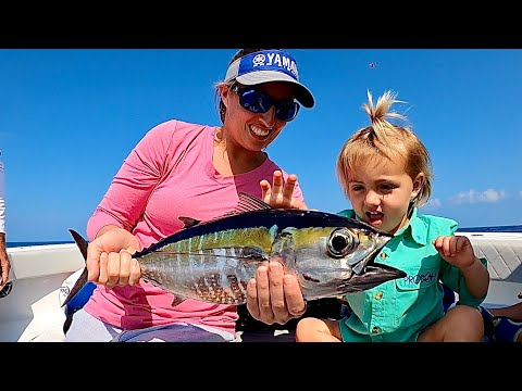 She KISSED A FISH! TUNA And MAHI Catch Clean Cook With The STANZFAM!