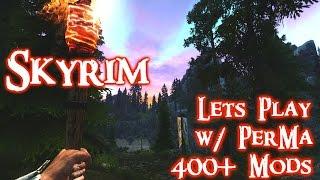 Skyrim Lets Play w/ Perkus Maximus 400+ mods Ep. 02 Riverwood exploring